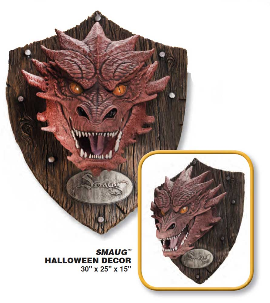 Hobbit, The Smaug The Dragon Head Trophy Wall Decor