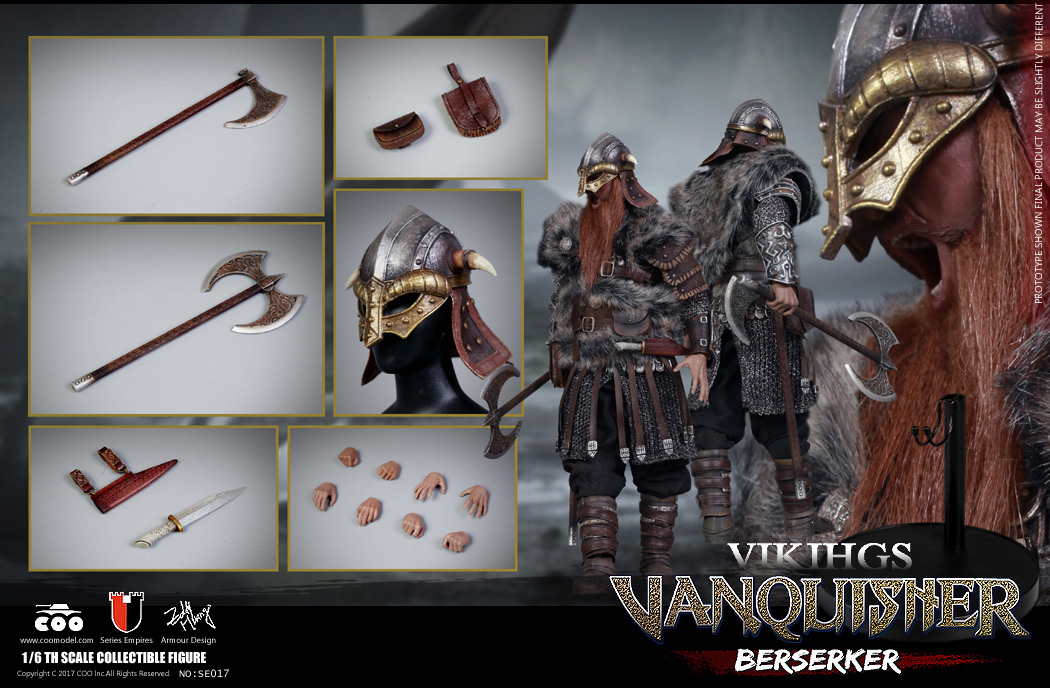 Vikings Vanquisher Berserker 1/6 Scale Figure by Coo Model