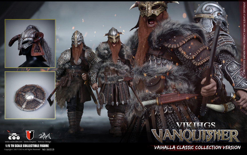 Vikings Vanquisher Berserker and Warlord 1/6 Scale Figure Valhalla Deluxe Set of 2 by Coo Model