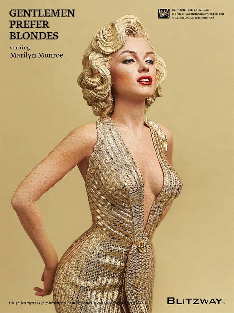 Marilyn Monroe Gentlemen Prefer Blondes 1953 1/4 Scale Statue by Blitzway