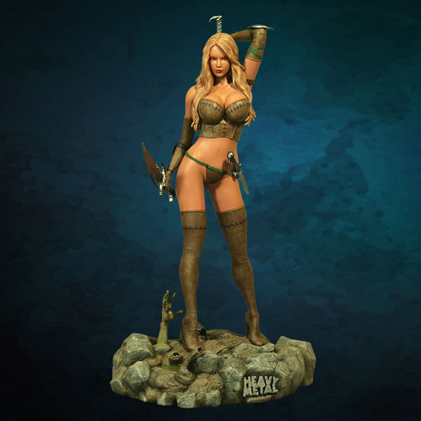 Heavy Metal Magazine Into the Fog 1/4 Scale Sexy Girl Statue