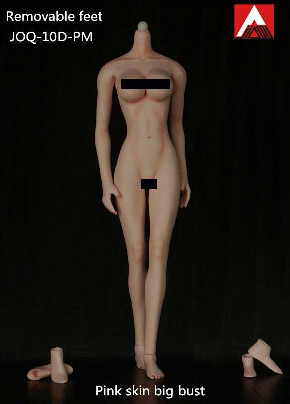 Female Body 1/6 Scale Light Make-Up Pink Skin Big Bust Figure