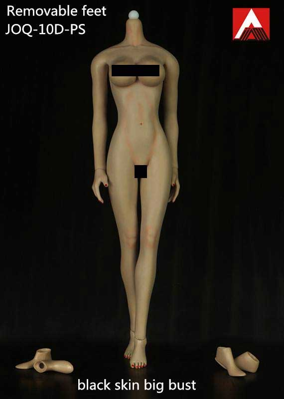 Female Body 1/6 Scale Light Make-Up Black Skin Big Bust Figure