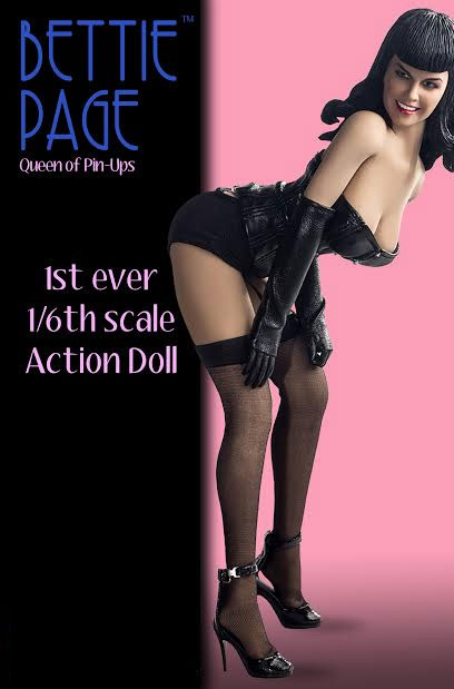 Bettie Page Queen of Pinups 1/6 Scale Action Doll Betty Page