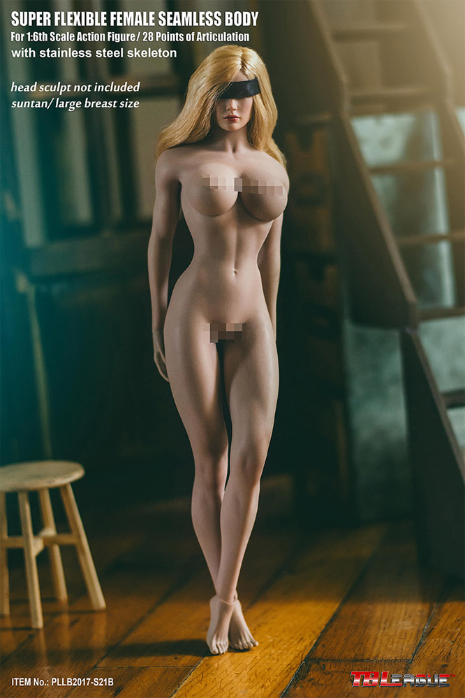 Female Body 1/6 Scale Super-Flexible Seamless Tan/Large Breast by Phicen [PL-LB2017-S21B]:
