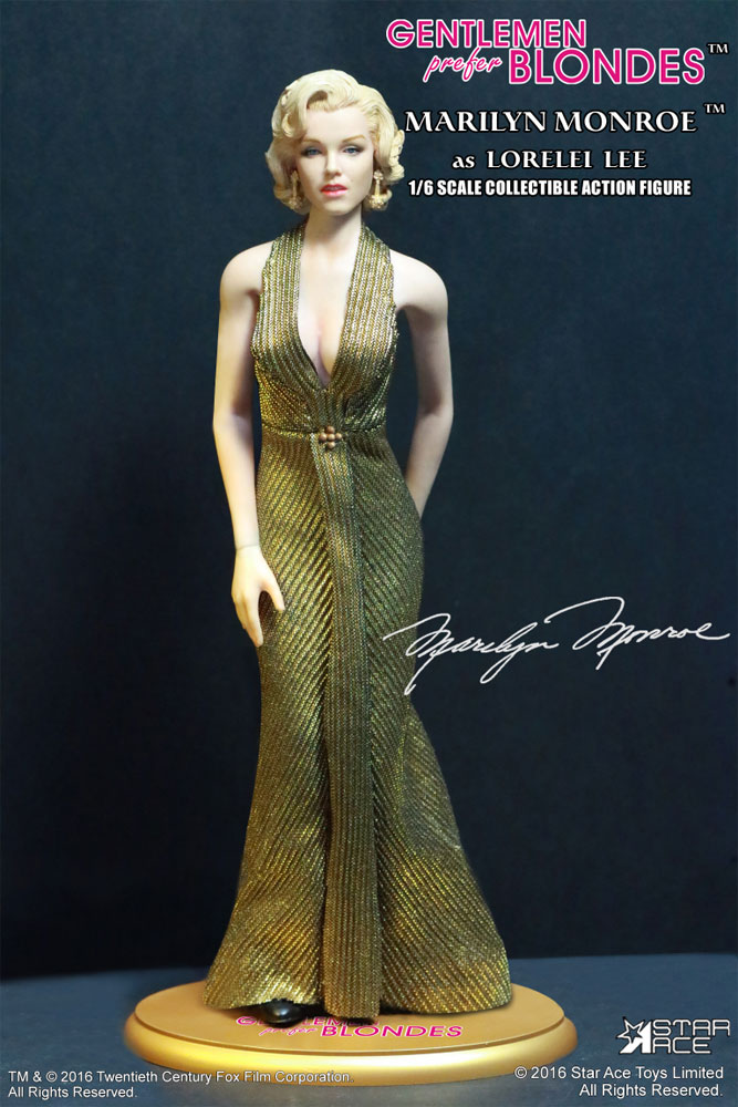 Marilyn Monroe (Gold Dress) Gentlemen Prefer Blonds 1/6 Scale Figure