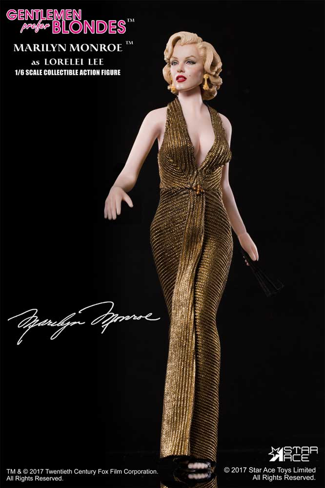 Marilyn Monroe (Gold Dress Version 2) Gentlemen Prefer Blonds 1/6 Scale Figure by Star Ace