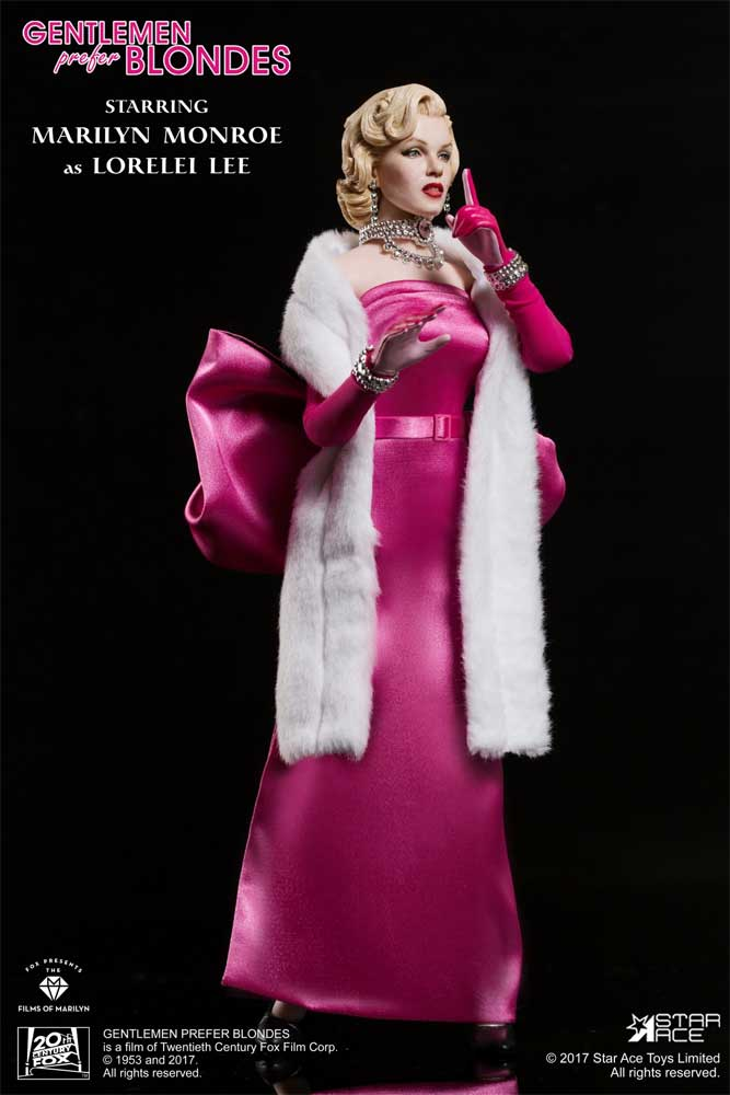Marilyn Monroe (Pink Dress Version 2) Gentlemen Prefer Blondes 1/6 Scale Figure by Star Ace