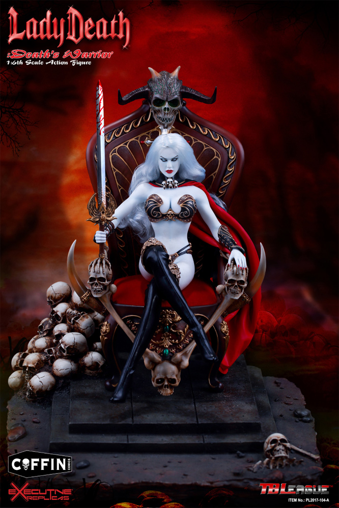 Lady Death Death's Warrior V2 1/6 Scale Deluxe Figure with Base and Throne