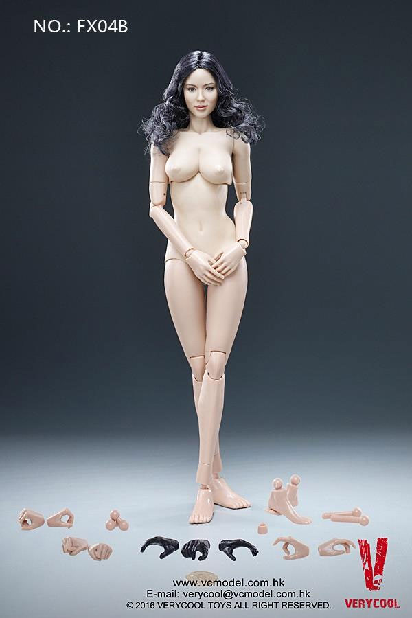 Female Body Asian Curly Hair 1/6 Scale Figure by Very Cool