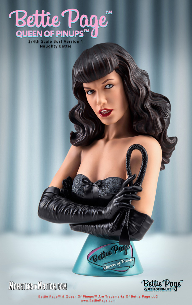 Bettie Page Queen Of Pinups 3/4 Scale Bust Naughty Bettie