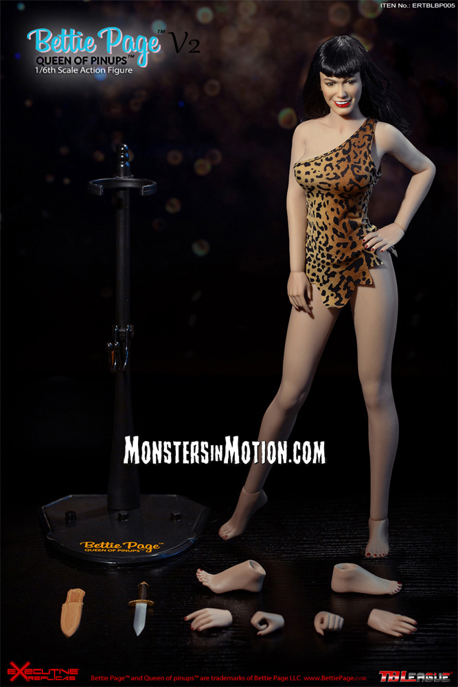 Bettie Page Queen Of Pinups V2 1/6 Scale Figure