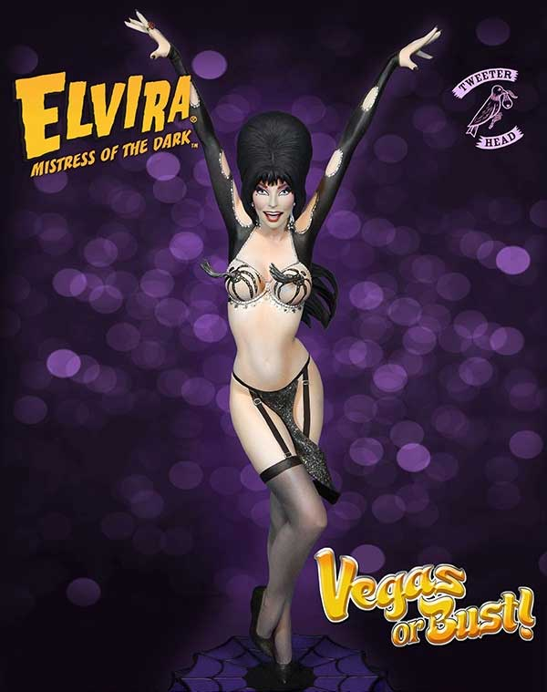 "Elvira Mistress Of The Dark ""Vegas or Bust"" Maquette Statue"