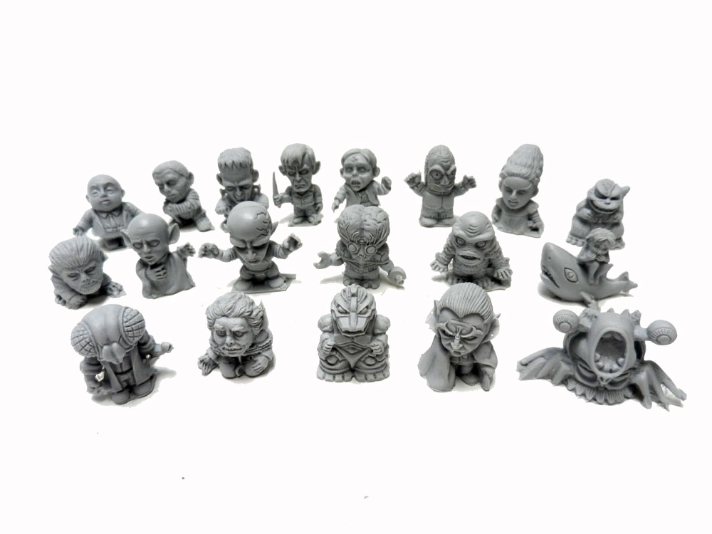 Mini Monsters 19-piece Resin Gumball Set