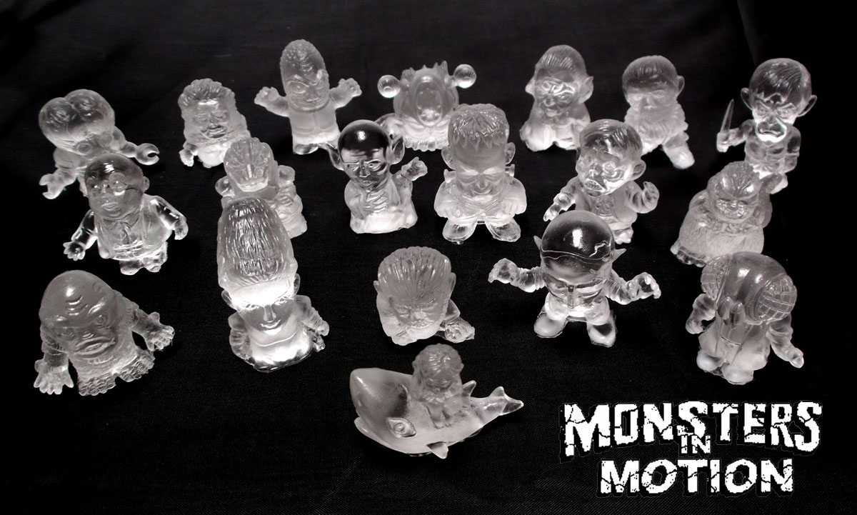 Mini Monsters 19-piece CLEAR Resin Gumball Set