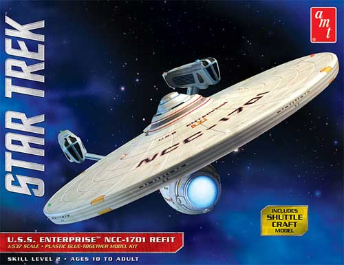 Star Trek U.S.S. Enterprise NCC-1701 Refit 1/537 Scale Model Kit by AMT