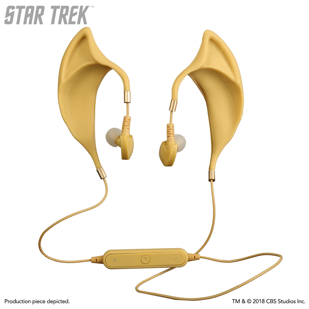Star Trek Classic Spock Ears Vulcan Earbuds (Wireless) with Inline Remote and Mic