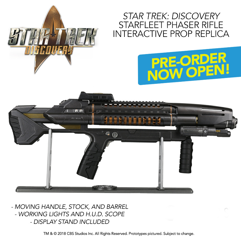Star Trek Discovery Starfleet Phaser Rifle Interactive Prop Replica