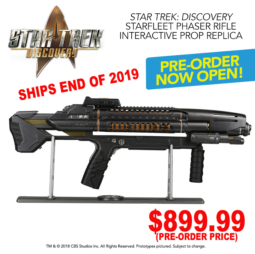 Star Trek Discovery Starfleet Phaser Rifle Interactive Prop Replica (Standard Edition)
