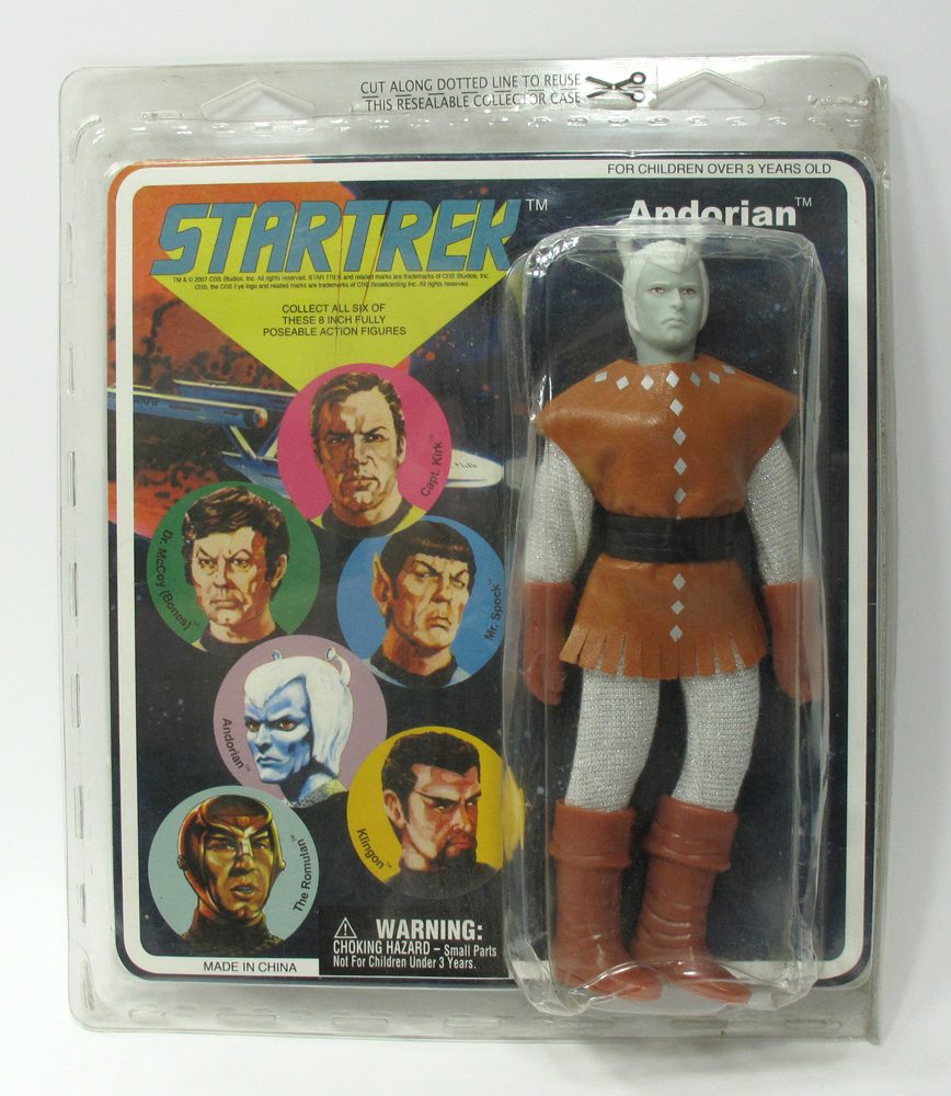 "Star Trek Andorian 8"" Retro Mego Style Figure NOT MINT"