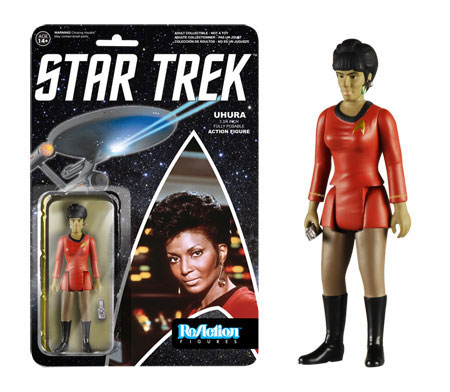 "Star Trek ReAction Uhura 3 3/4 "" Retro Kenner Style Figure"