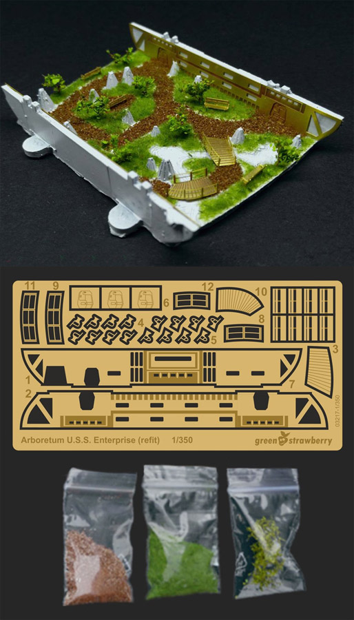Star Trek TOS Enterprise NCC-1701 Arboretum 1/350 Scale Model Kit Detail Set Photoetch by Green Strawberry