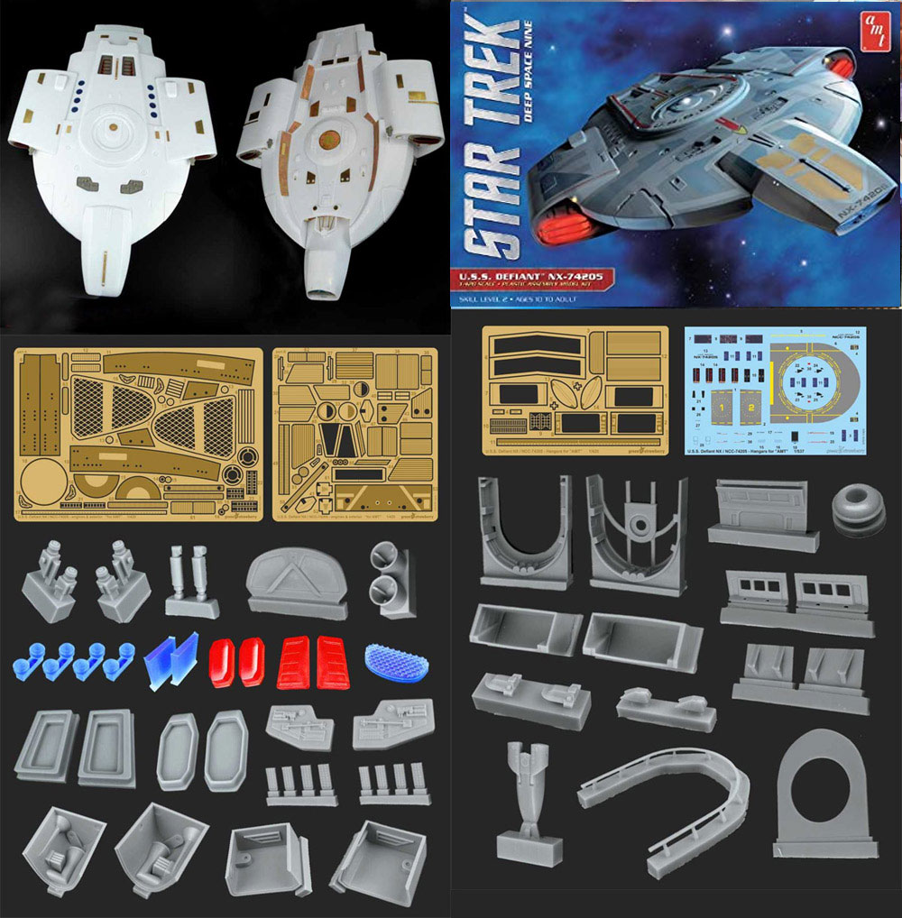 "Star Trek Deep Space Nine U.S.S. Defiant 1/420 Scale Photoetch and Resin Detail Set ""Fruit Pack"" by Green Strawberry"