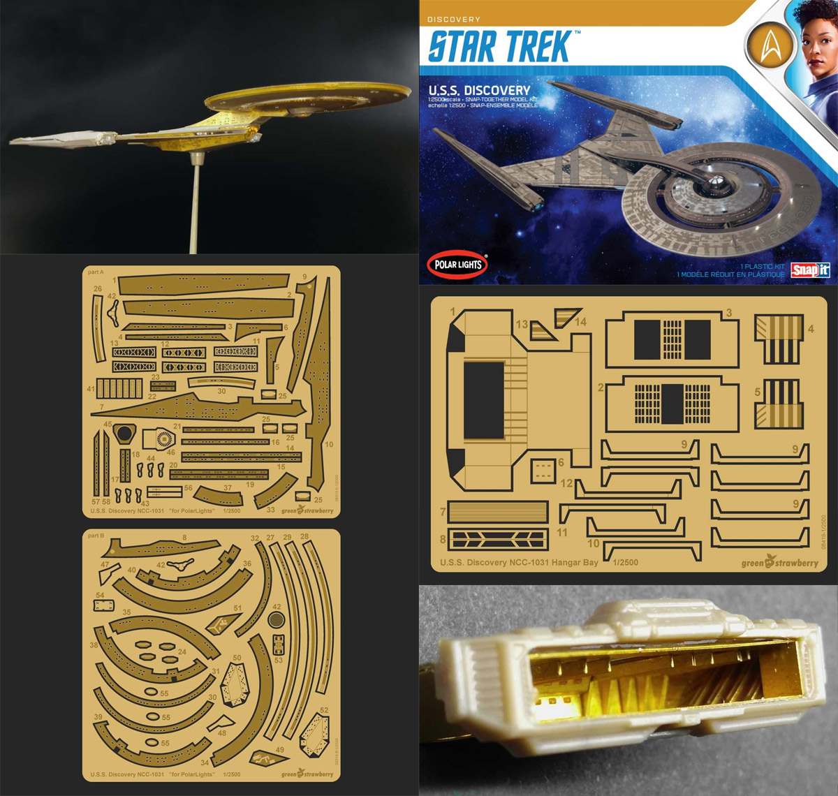 "Star Trek Discovery NCC-1031 1/2500 Scale Photoetch Detail and Hangar Set ""Fruit Pack"" by Green Strawberry"