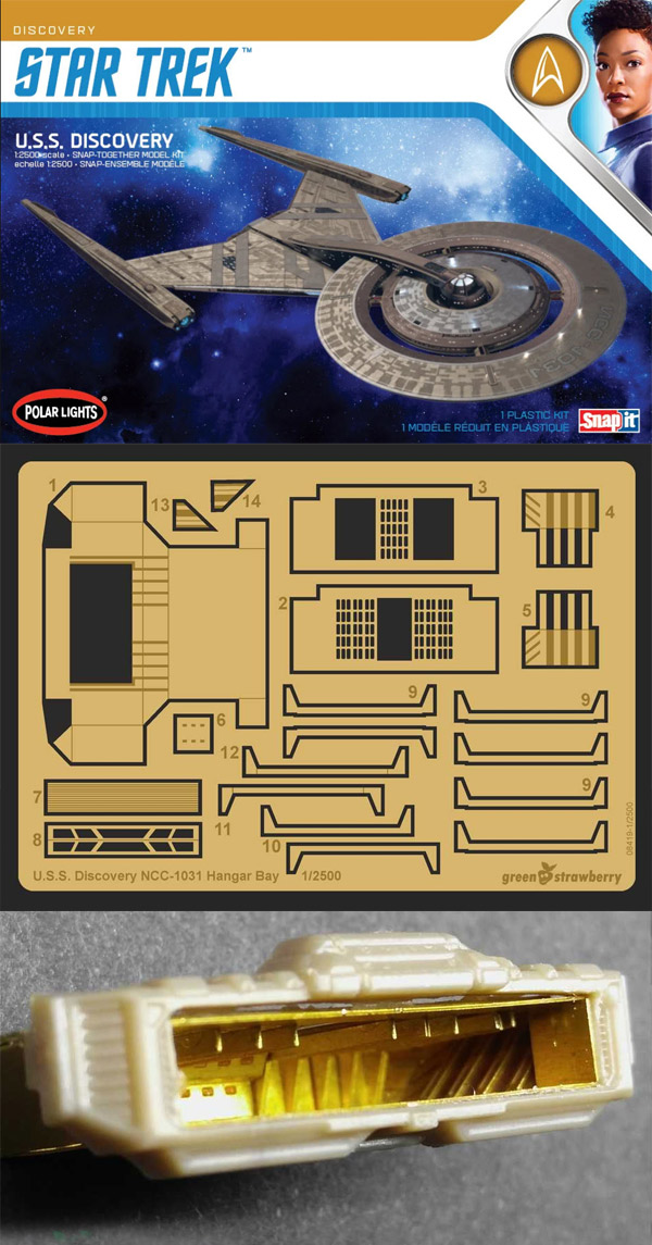Star Trek Discovery NCC-1031 1/2500 Scale Photoetch Hangar Detail Set by Green Strawberry