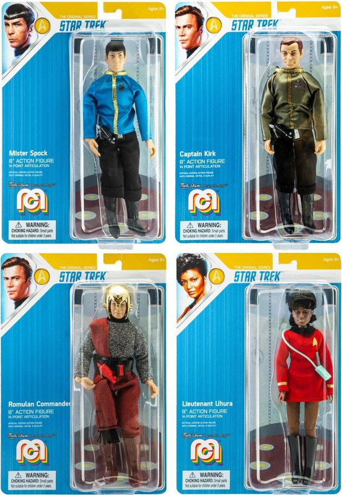 "Star Trek TOS 8"" Action Figure Set of 4 by Mego"