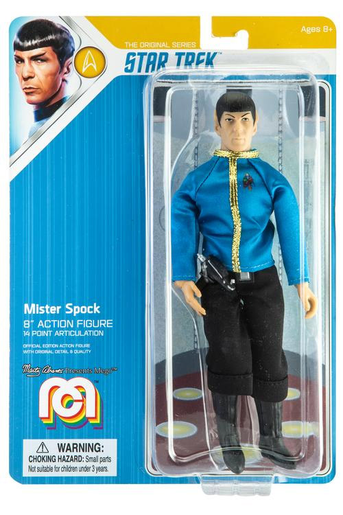 "Star Trek TOS Mister Spock in Dress Uniform 8"" Figure by Mego"