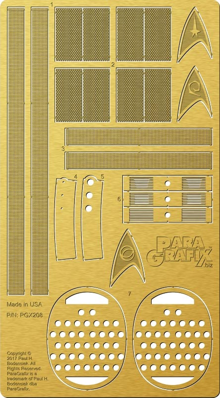 Star Trek Enterprise NCC-1701 1/350 Scale Photoetch Detail Set