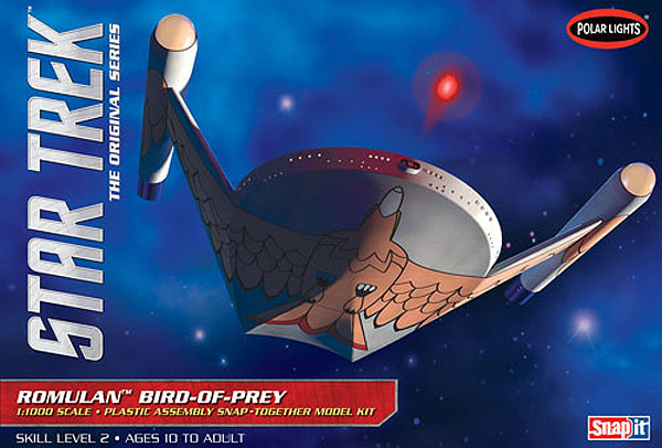 Star Trek TOS Romulan Bird of Prey 1/1000 Scale Model Kit by Polar Lights