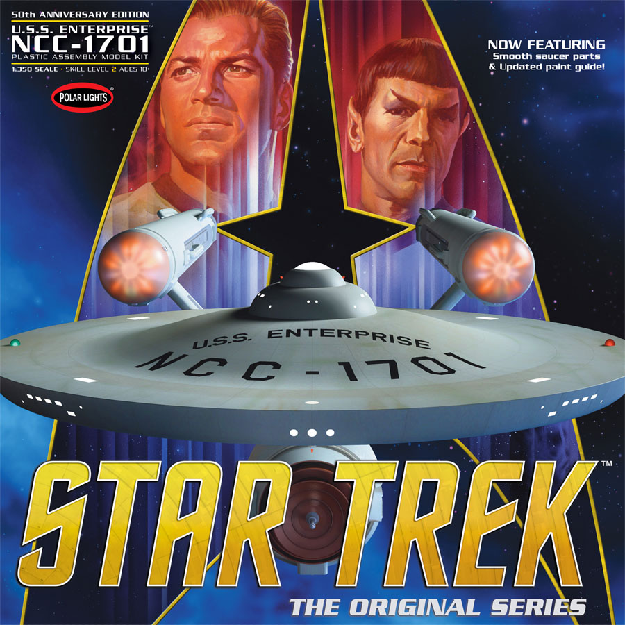 Star Trek U.S.S. Enterprise NCC-1701 50th Anniversary 1/350 Scale Model Kit (Smooth Saucer)