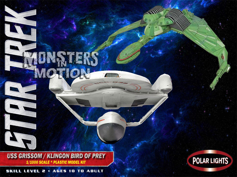 Star Trek USS Grissom/Klingon Bird of Prey 1/1000 Scale Model Kit by Polar Lights