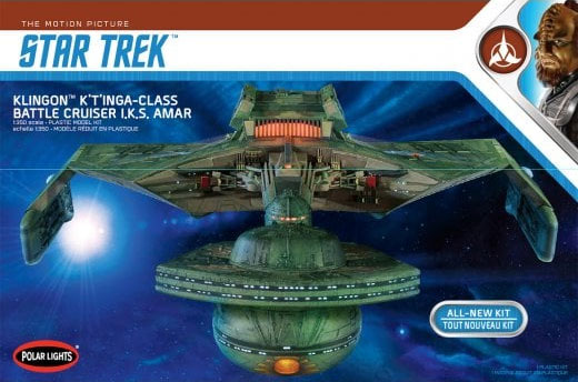 Star Trek The Motion Picture Klingon K't'inga Battlecruiser 1/350 Scale Model Kit