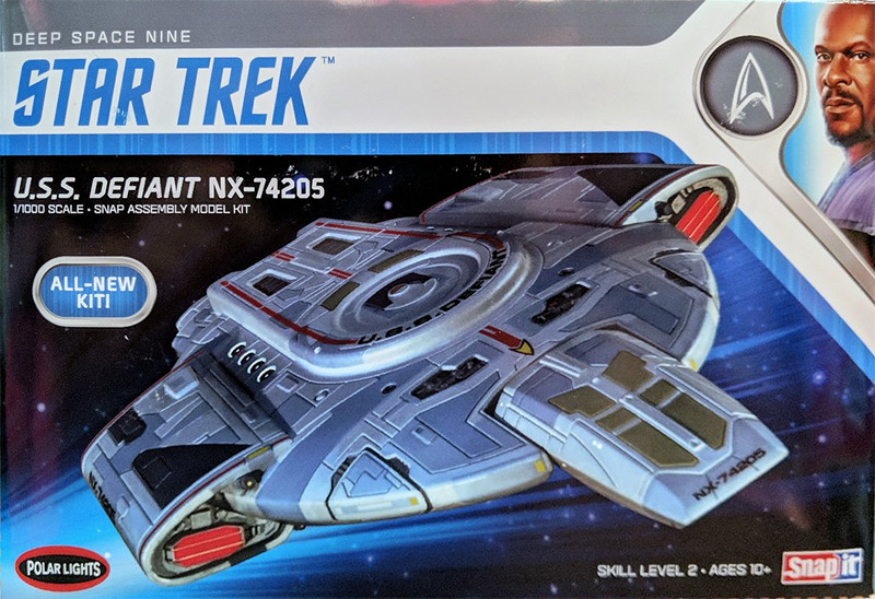 Star Trek Deep Space Nine U.S.S. Defiant 1/1000 Scale Model Kit by Polar Lights