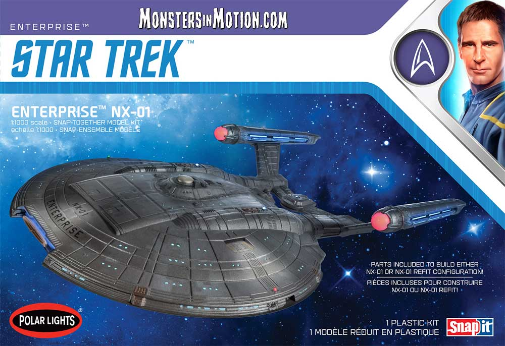 Star Trek Enterprise NX-01 1/1000 Scale Model Kit by Polar Lights Re-Issue
