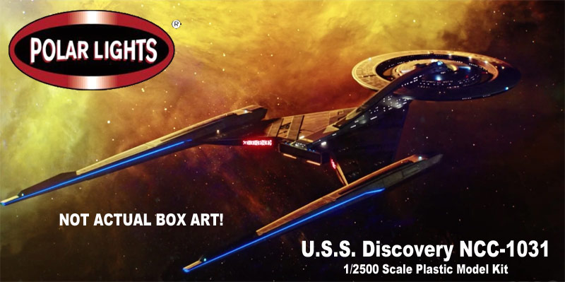 Star Trek Discovery NCC-1031 1/2500 Scale Model Kit by Polar Lights