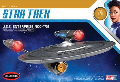 Star Trek Discovery U.S.S. Enterprise 1/2500 Scale Model Kit by Polar Lights