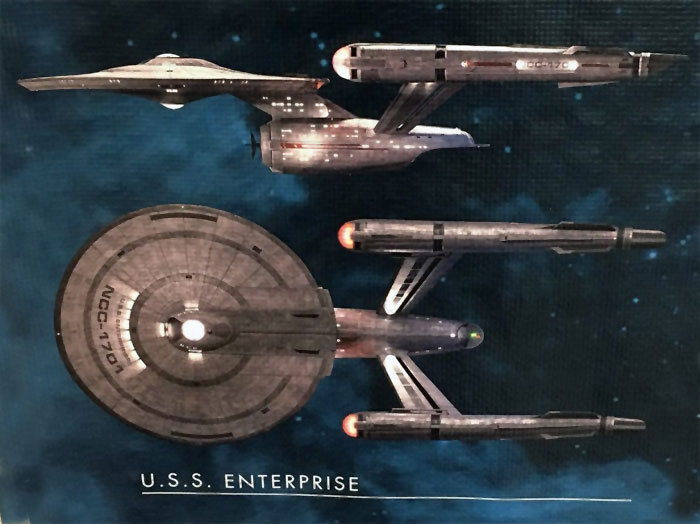 Star Trek Discovery Enterprise NCC-1701 1/1000 Scale Aztec Decal Sheet