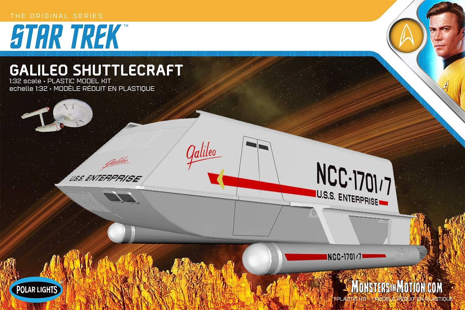 Star Trek Galileo Shuttlecraft 1/32 Scale Model Kit by Polar Lights