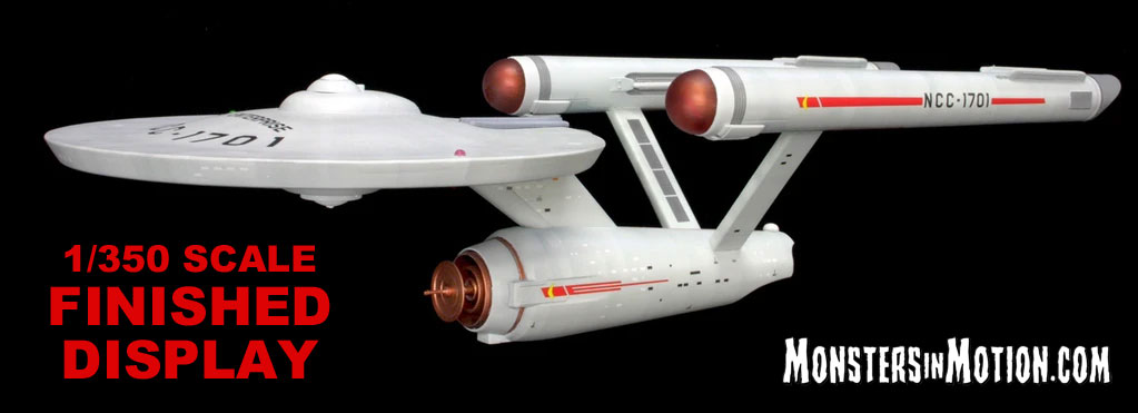 Star Trek TOS USS Enterprise NCC-1701 1/350 Scale Pre-Built Replica LIMITED EDITION by Polar Lights