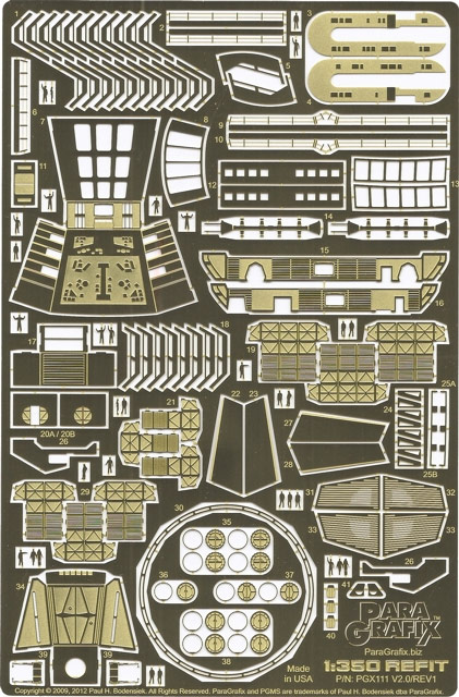 Star Trek Enterprise NCC-1701 Refit 1/350 Scale Photoetch Detail Set