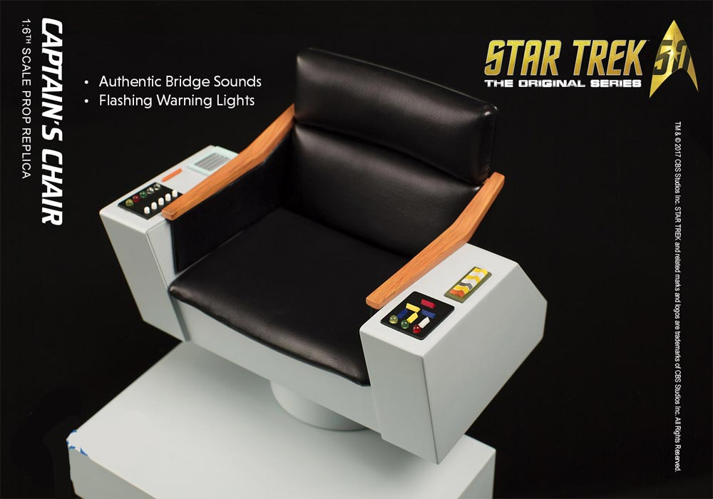 Star Trek TOS Captain's Chair 1/6 Scale Replica with Lights and Sound