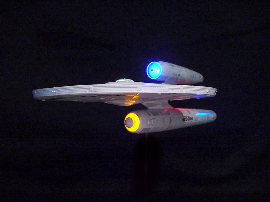 Star Trek U S S  Kelvin Starship 1/1000 Scale Model Light