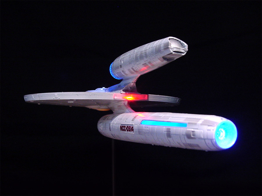 Star Trek U S S  Kelvin Starship 1/1000 Scale Model Light