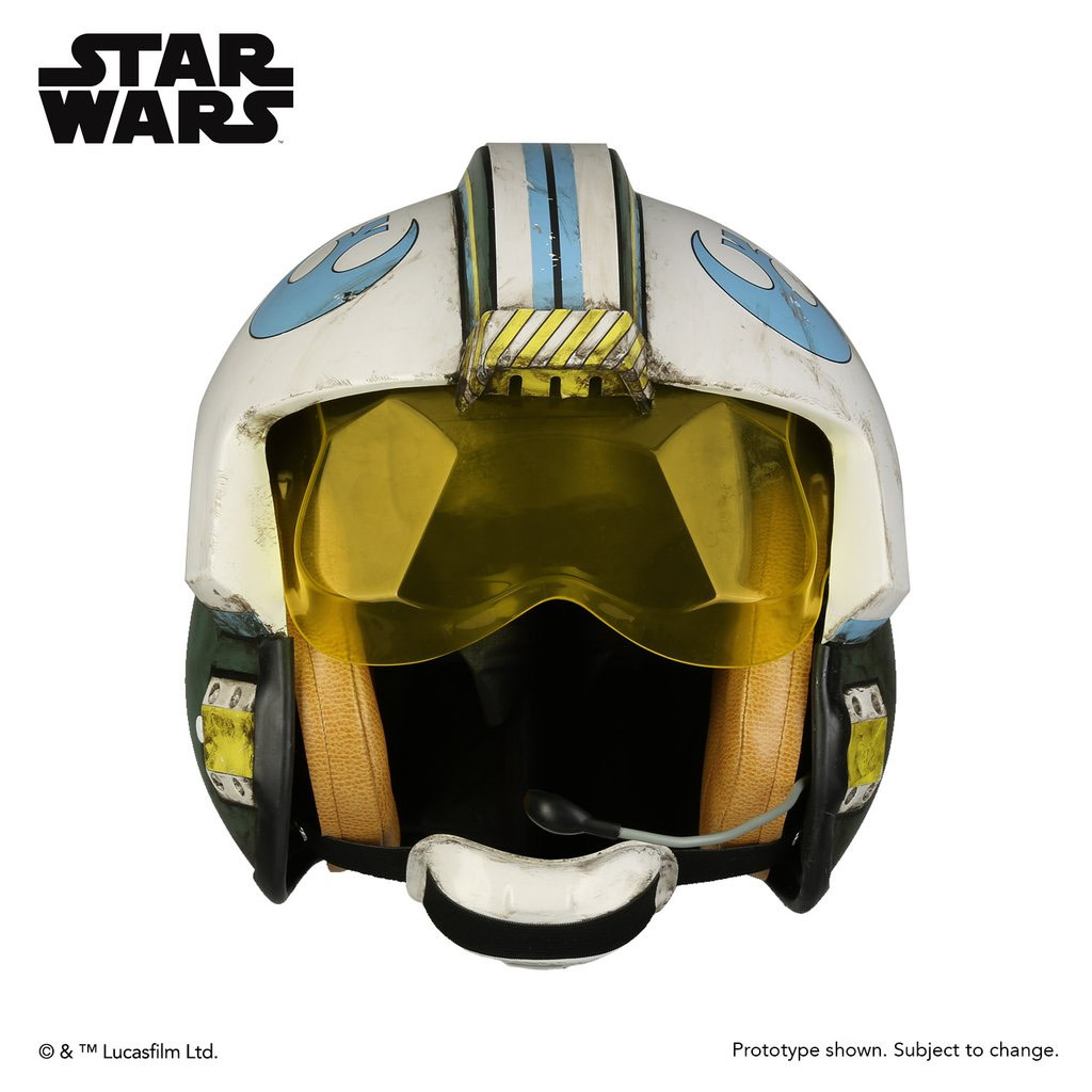 Star Wars Rogue One Blue Squadron Helmet Prop Replica General Merrick