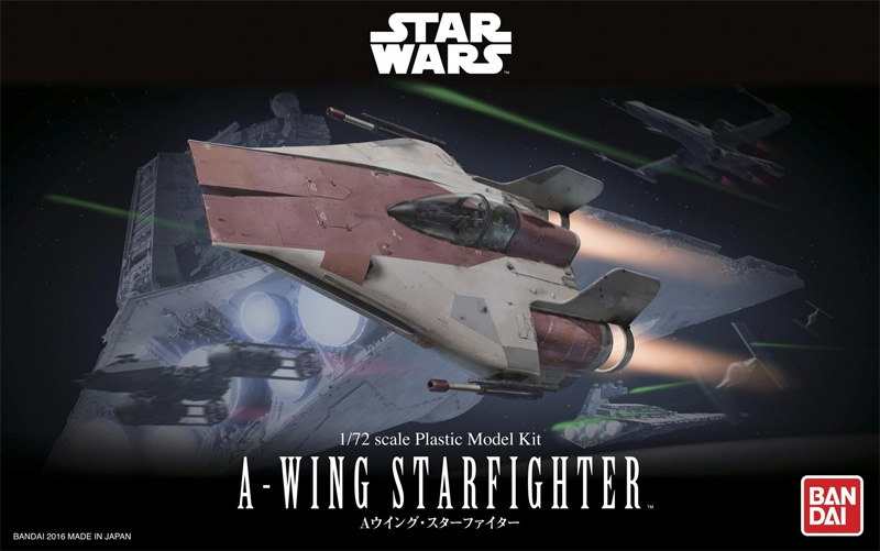 Star Wars A-Wing Starfighter 1/72 Scale Model kit by Bandai Japan