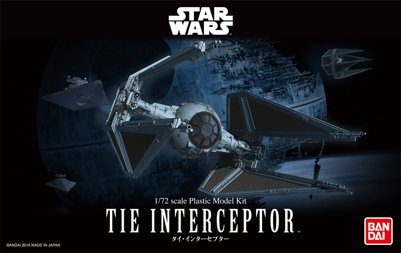 Star Wars Tie Interceptor 1/72 Scale Model Kit by Bandai Japan